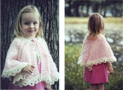 Knitting Pattern Cape Child : Baby Cape Pattern   Catalog of Patterns